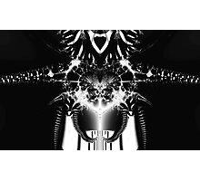 Transformer? Black and White Fractal. Photographic Print