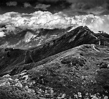 Golm (Alps, Austria) #9 B&W by novopics
