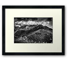 Golm (Alps, Austria) #9 B&W Framed Print