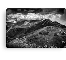 Golm (Alps, Austria) #9 B&W Canvas Print