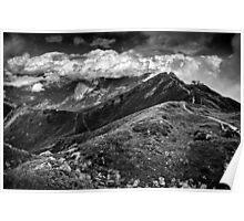 Golm (Alps, Austria) #9 B&W Poster