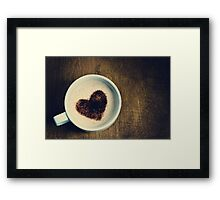 ♥ coffee Framed Print