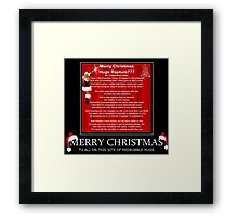 ˚ ˛★ 。* 。*★ WISHING ALL REDBUBBLERS A VERY MERRY CHRISTMAS˚ ˛★ 。* 。*★   Framed Print