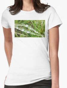 Grass Water Droplets Womens Fitted T-Shirt