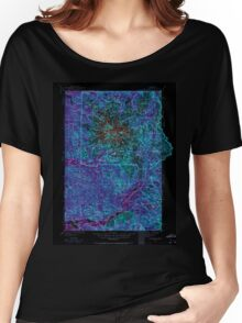 USGS Topo Map Washington State WA Mt Rainier 242663 1924 125000 Inverted Women's Relaxed Fit T-Shirt