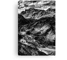 Golm (Alps, Austria) #4 B&W Canvas Print