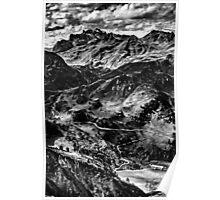 Golm (Alps, Austria) #4 B&W Poster