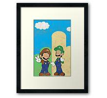 Minimalistic Super Mario Bros. Framed Print