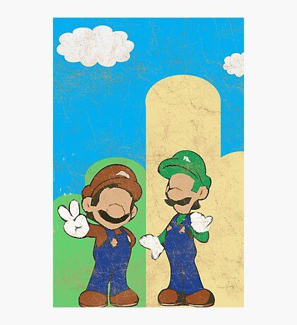 Minimalistic Super Mario Bros. Photographic Print