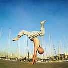 Handstand, inverted Yoga asana in Barcelona by Wari Om  Yoga Photography