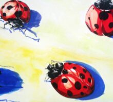 Ladybugs Bring Good Luck Sticker