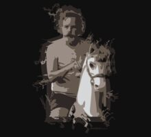 Bob Weir on a Horse by MIDWESTpeeps