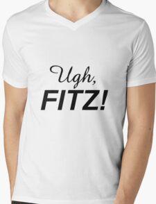 Ugh, FITZ! (Black) Mens V-Neck T-Shirt