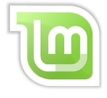 Linux Mint logo Photographic Print
