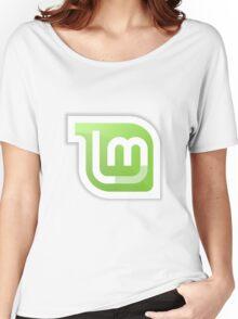 Linux Mint logo Women's Relaxed Fit T-Shirt