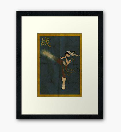 FIGHT: Chun Li Framed Print