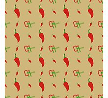 Chilli Memes Pattern Photographic Print