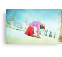 Ustrasana, Yoga in the beach, Barcelona  Metal Print
