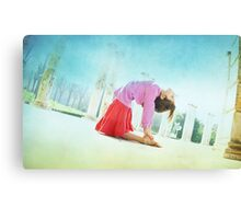 Ustrasana, Yoga in the beach, Barcelona  Canvas Print