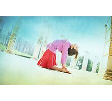 Ustrasana, Yoga in the beach, Barcelona  Photographic Print