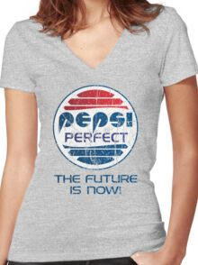 Pepsi Perfect - Distressed Women's Fitted V-Neck T-Shirt