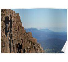 Dolomite walls, Ben Lomond Poster