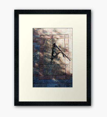 Bok Clock Framed Print