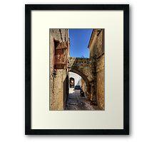 Alleyway in Rhodes Town Framed Print