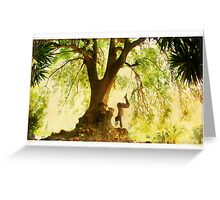 Handstand by the tree Greeting Card