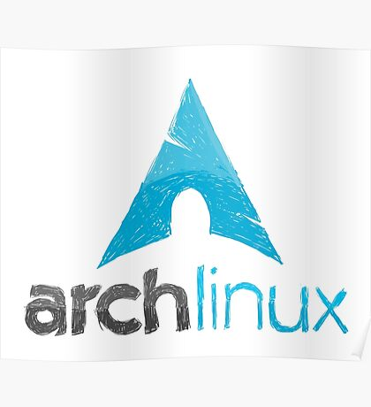 Arch linux logo Poster