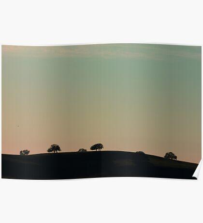 Dotted Hillside Poster