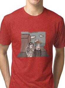 The Girl at the Dock's meet's a Cat Tri-blend T-Shirt