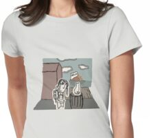 The Girl at the Dock's meet's a Cat Womens Fitted T-Shirt
