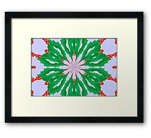 Green For Christmas Framed Print
