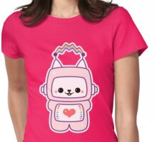 Cute Cat Bot Womens Fitted T-Shirt