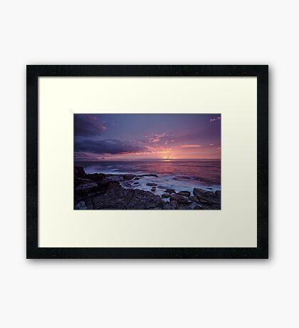 Sneak peak - sun rays Framed Print