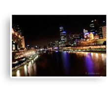 Melbourne in colourful times Canvas Print