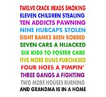 Funny The Twelve Days of Christmas  Photographic Print