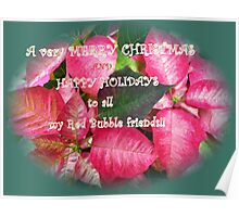 Merry Christmas and Happy Holidays Poster