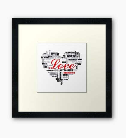 Love typography Framed Print