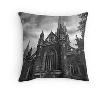 Outside St Patricks Cathedral Throw Pillow