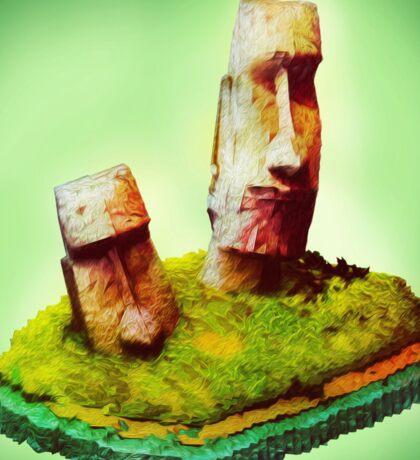 Monolithic Moai Easter Island Sticker