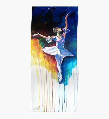 Colorful ballet dancer  Poster