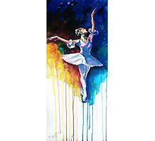 Colorful ballet dancer  Photographic Print