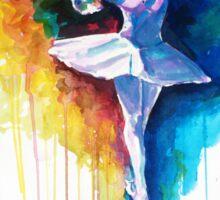 Colorful ballet dancer  Sticker