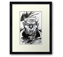 Somewhat miffed Orc Framed Print