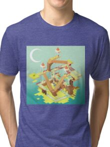 Puzzle Fortress Tri-blend T-Shirt