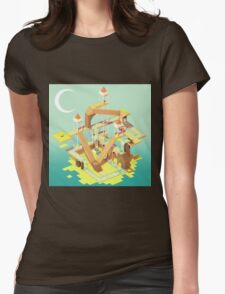 Puzzle Fortress Womens Fitted T-Shirt