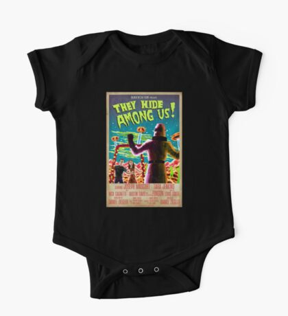 They Hide Among Us! Poster One Piece - Short Sleeve