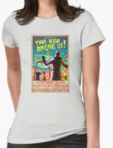 They Hide Among Us! Poster Womens Fitted T-Shirt